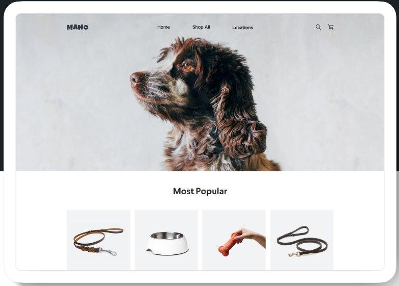 Screenshot of Most Popular Items