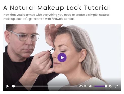 Screenshot of Natural Makeup Look Tutorial