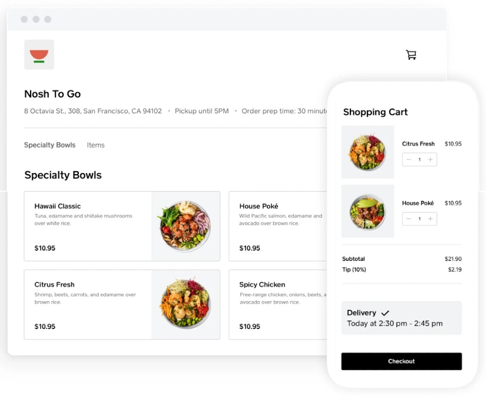 Screenshot of Restaurant Food Delivery