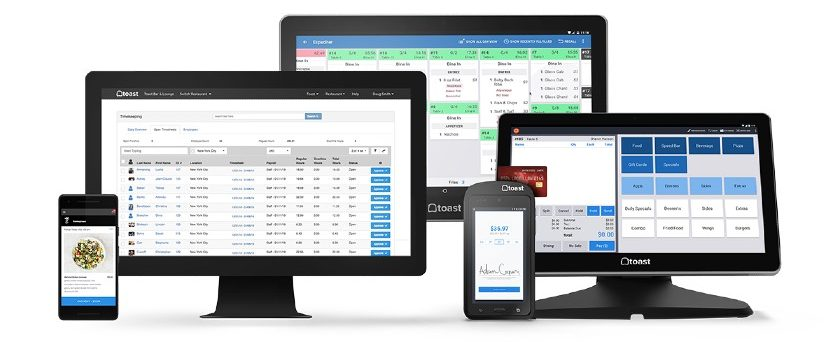 Screenshot of Toast Solutions and Online Checkout for Desktop, Mobile and Tablet.