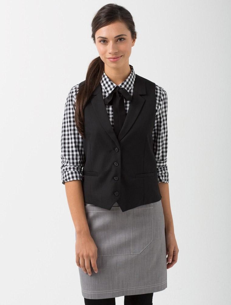 Girl Wearing Bar Uniform