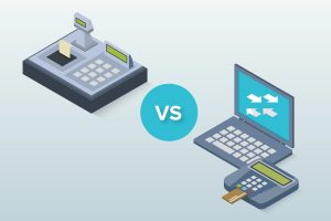 POS System vs Cash Register Graphic