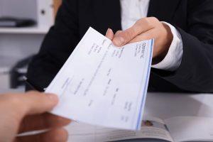 handling of payroll check