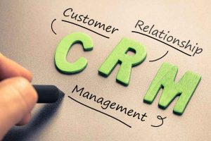 CRM abbreviation with hand writing definition