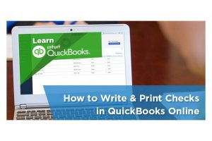 how to print checks in quickbooks online