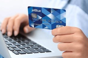 Man use credit card for shopping payment online