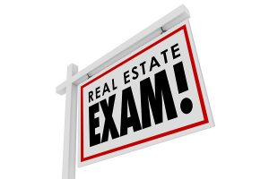 Real Estate Exam sign board