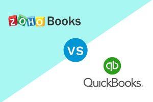 Zoho Books and Quickbooks Online Logo