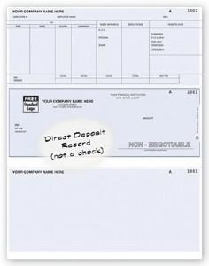 Direct deposit payroll