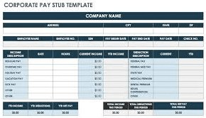 Pay stub only example