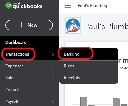 Banking Center in QuickBooks Online