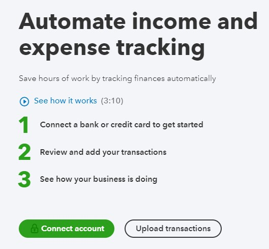 Connect your first bank account in QuickBooks Online