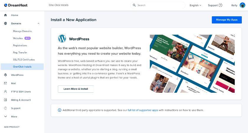 DreamHost WordPress Installation