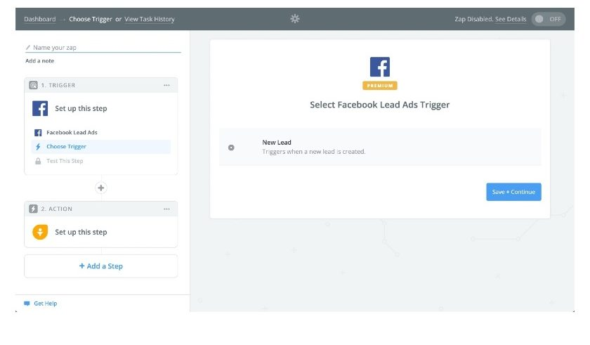 Screenshot of Freshsales integration with Facebook