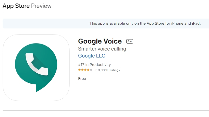 Google Voice App Store Preview