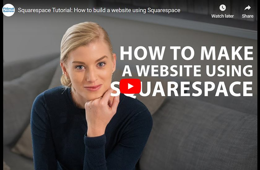 How To Make Squarespace Website Video
