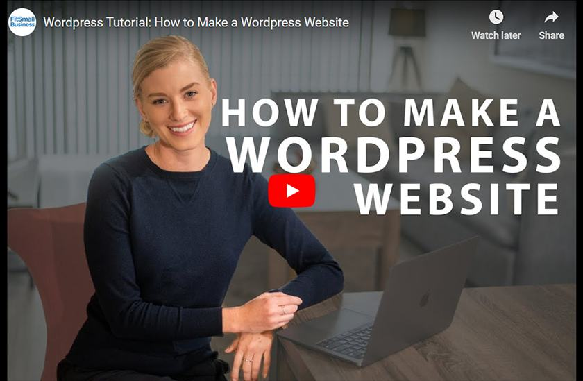 How To Make WordPress Website Video