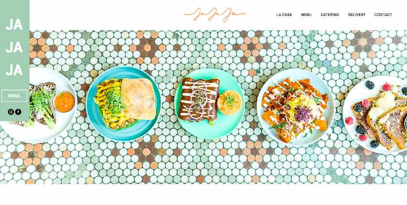 JaJaJa NYC-based restaurant Website