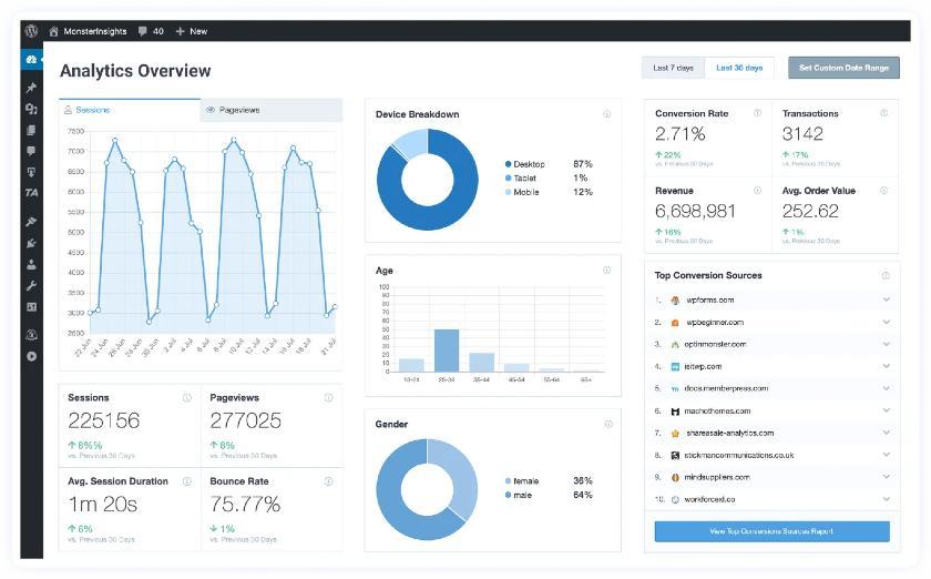 MonsterInsights Analytics Overview