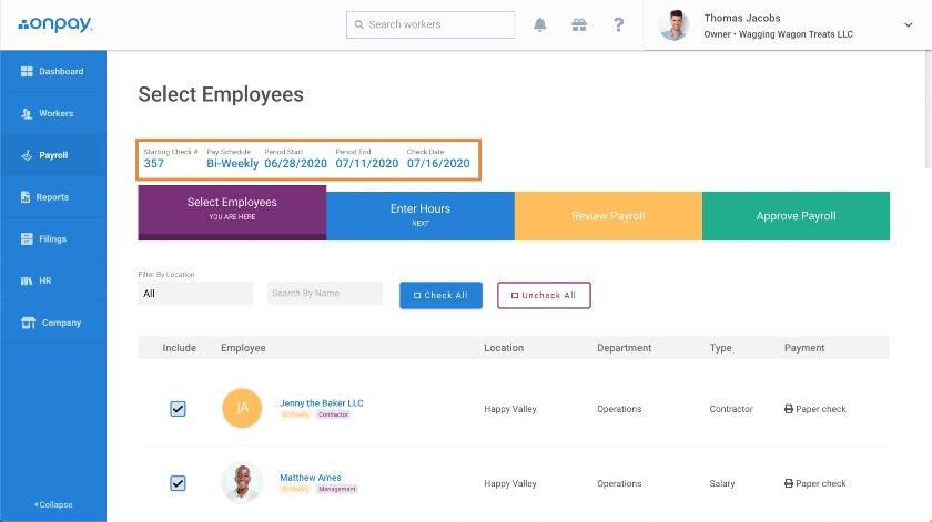 Customize Payroll Settings