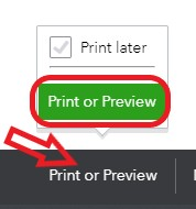 Print or preview an estimate in QuickBooks Online