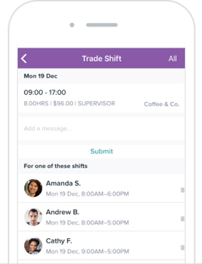 Screenshot of Homebase HR and Team Management