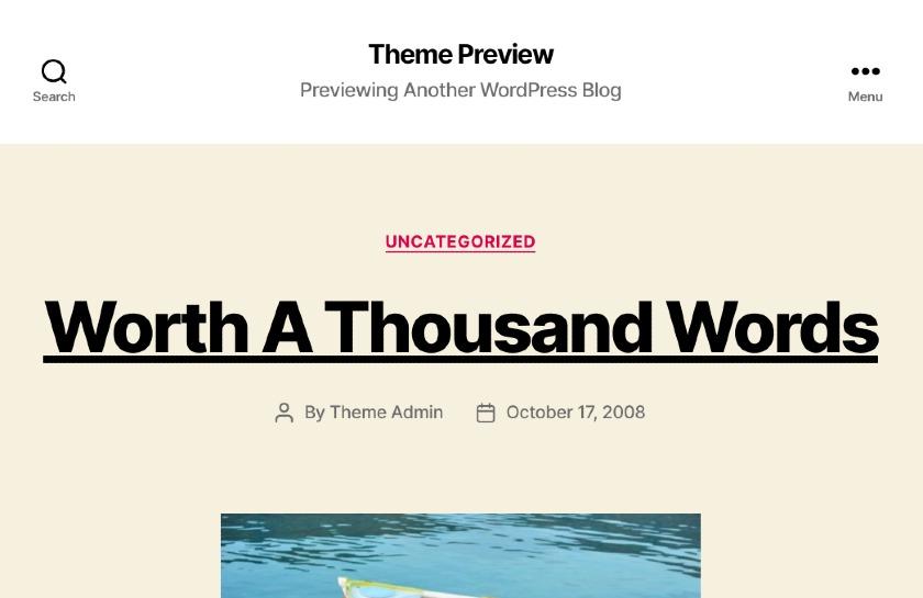 Screenshot of Twenty Twenty WordPress Theme preview