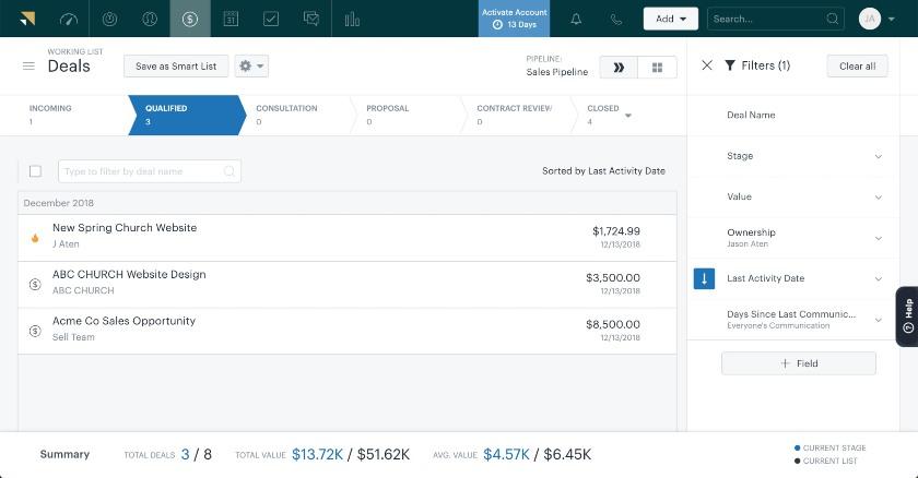 Zendesk Sell deal management