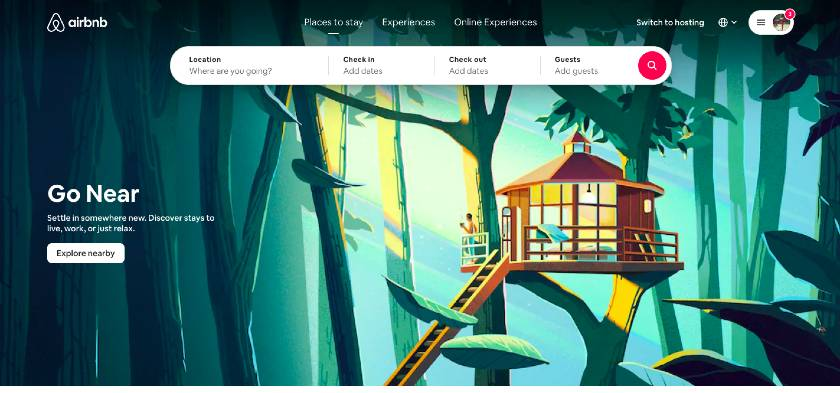 Airbnb Example of Good UX Web Design