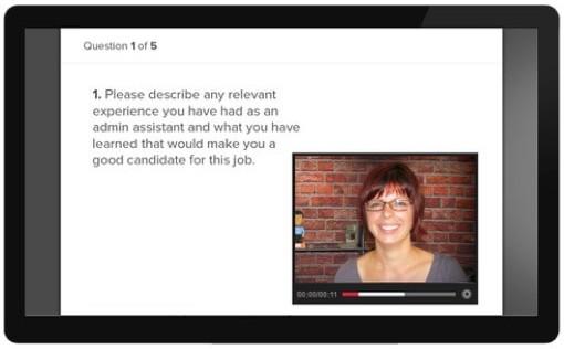 Screenshot of ApplicantPro Video Interviews