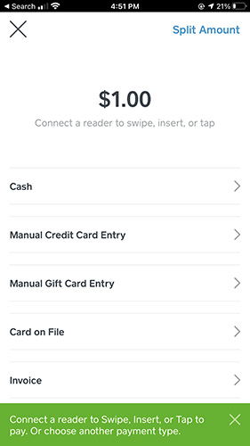 Screenshot of Connecting a Reader to Swipe Insert or Tap to Pay