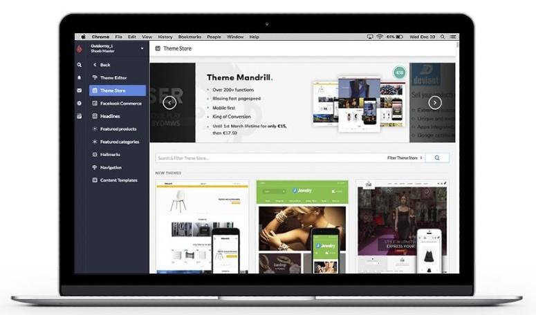 Screenshot of Designing a Website on Lightspeed Retail
