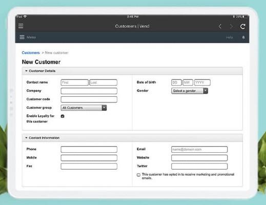 Screenshot of Detailed Customer Management on Vend