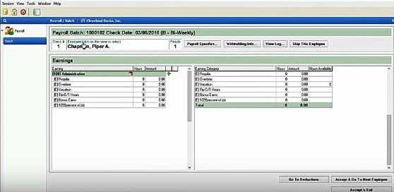 Screenshot of Employee_Work_Hours and Payroll Details