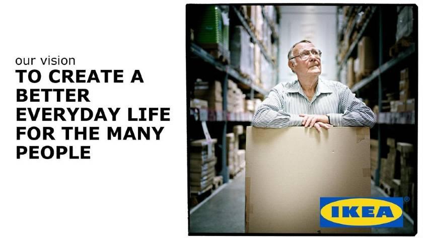 Screenshot of IKEA Vision Statement