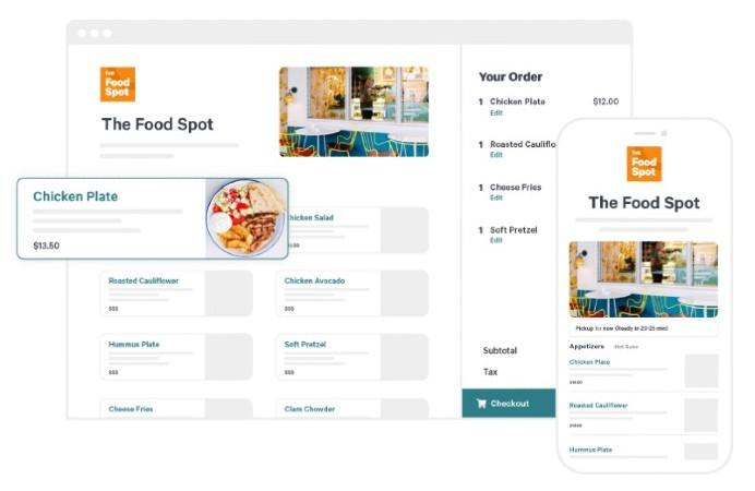 Screenshot of Managing Menu on Toast