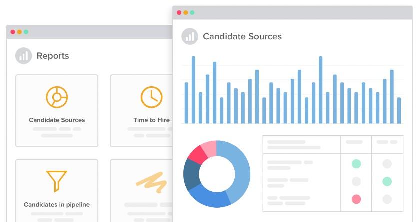 Screenshot of Recruiterbox Data Reporting and Analytics