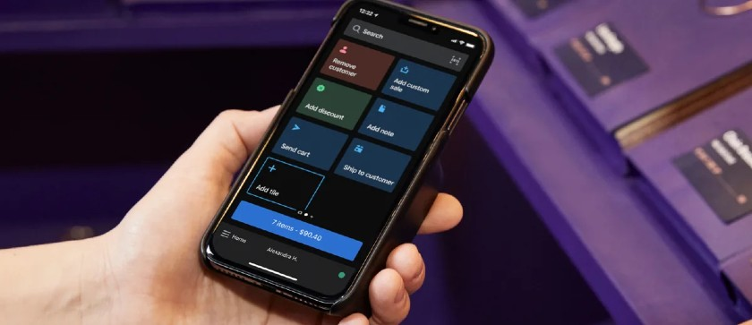 Screenshot of Shopify POS on Mobile