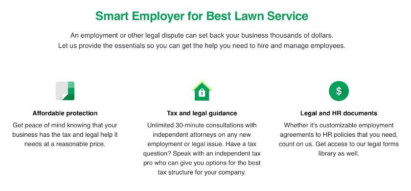 Screenshot of Smart Employer for Best Lawn Service