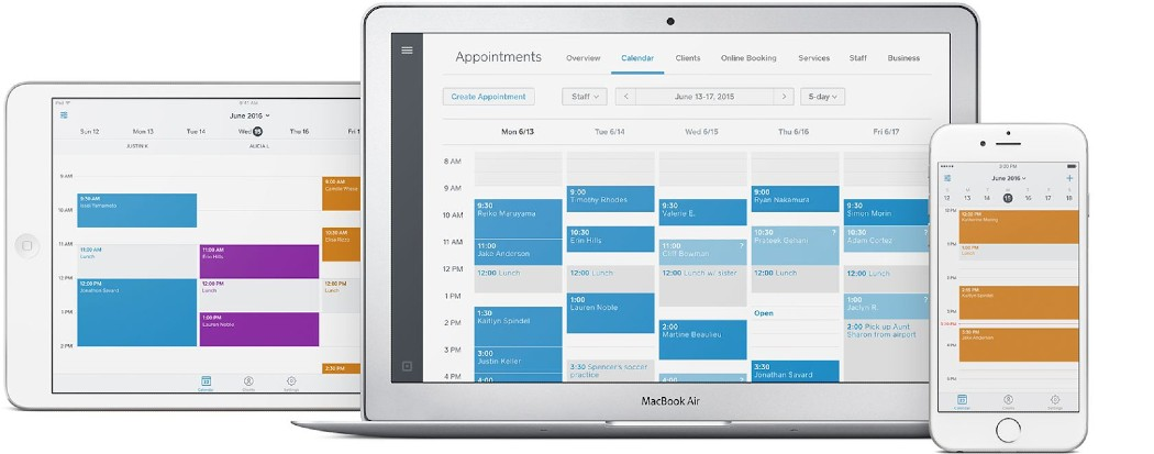 Screenshot of Square Appointments Online Booking Portal
