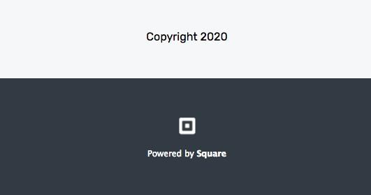 Screenshot of Square Copyright