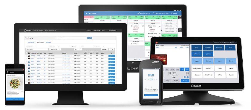 Screenshot of Toast on Mobile Desktop Tablet and Register