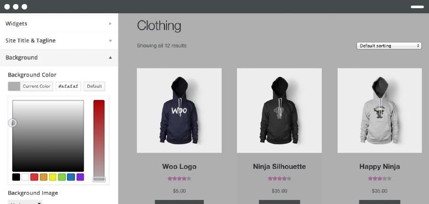 Screenshot of WooCommerce Website Builder