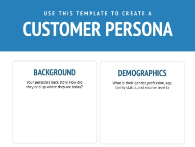 Free Customer Persona Template