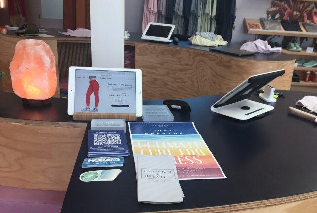 Activewear Retailer Outdoor Voices Checkout Counter