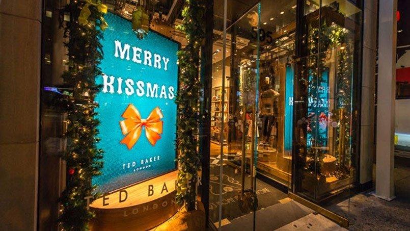 Digital Christmas Window Display