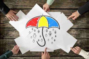 umbrella and hands