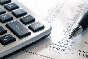 calculator and reciepts