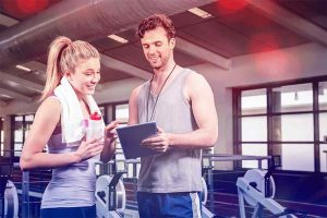 two young fitness instructors