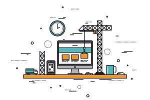 real estate website builder concept